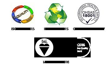 ISO 9001:2008, ISO 14004:2004, OHSAS 18001:2007, ISO/TS 16949:2009